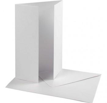 GALGO Sobre 70x106 blanco VERJURADO (75) tarjetas