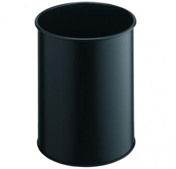 DURABLE Papelera metálica 15l negro