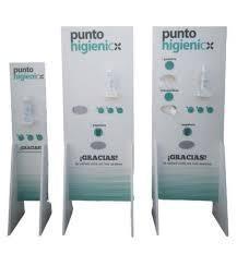 YOSAN Punto higienico triple (con Gel 500ml. ,guantes plásticos y  masacrillas de 1 capa  incluido)