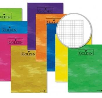 Libreta grapada GOLDEN cuarto 70gr 50h 4x4 colores surtidos