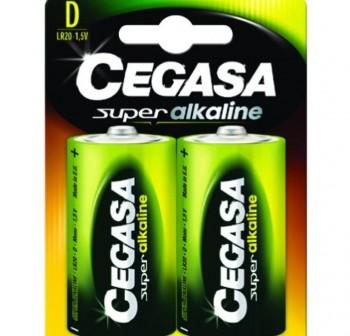 Pack 2 pilas Cegasa super alcalina D LR20