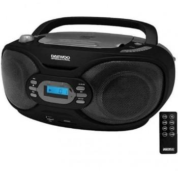 Reproductor Daewoo DBU-34 CD/MP3, puerto USB/SD radio AM/FM