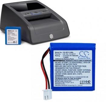 Batería de litio recargable Safescan LB-105 3,7x1,6x3,8cm color azul