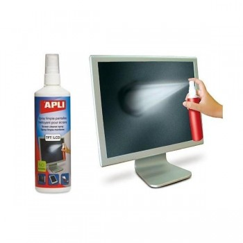 APLI Spray limpia pantallas 250ml.