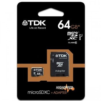 Tarjeta de memoria micro SDHC 64GB Class 10 TDK