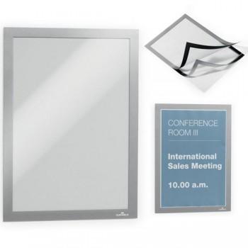 Bolsa con 2 marcos autoadhesivos Magaframe panel frontal magnético a4 29,7x21cm plata