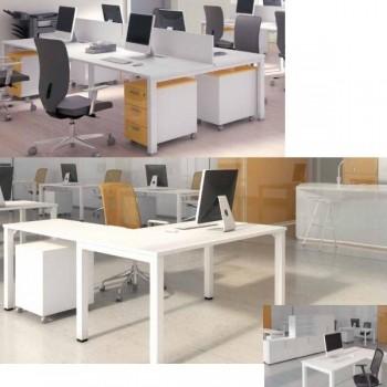 Ala para mesa y buc serie Nova color blanco 120x60x75cm.