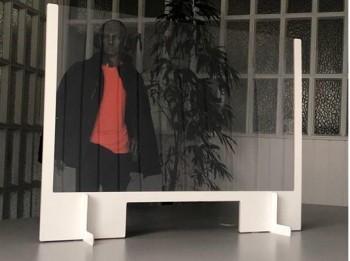 PARDO Mampara 900x650MM PVC/PET transparente