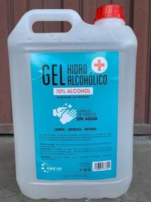 Garrafa gel alcohol 5l 70%